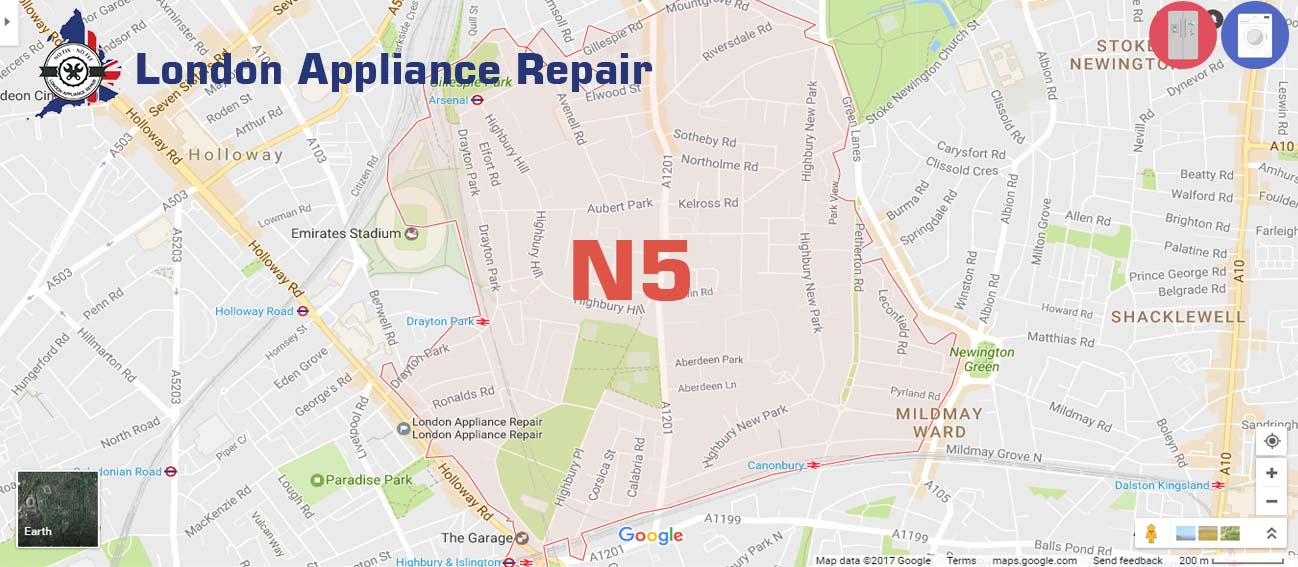 london appliane repair in N5
