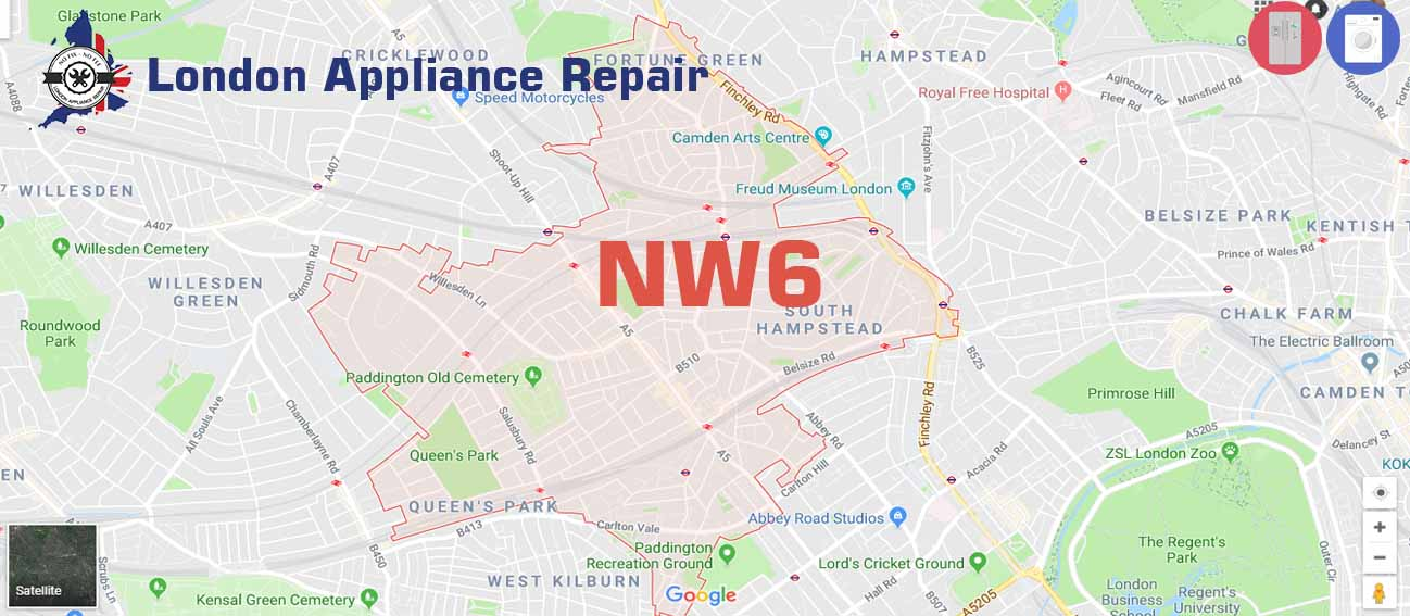 Domestic appliance repair in NW6